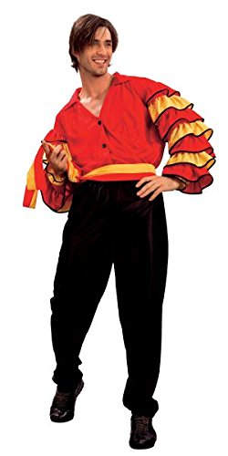 Bristol Novelty AC626 Rumba Man Adult Costume, Black, 44-Inch ()