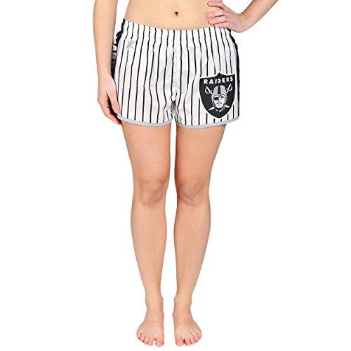 Oakland Raiders Womens Pinstripe Polyester Short Medium