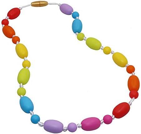 Collar Sensorial Masticable Para Niñas Y Niños Collar De Silicona Masticable Para La Dentición Del Bebé Morder Autismo O Necesidades Especiales Juguetes Masticables Para Motores Orales Reducen La Ansiedad Health