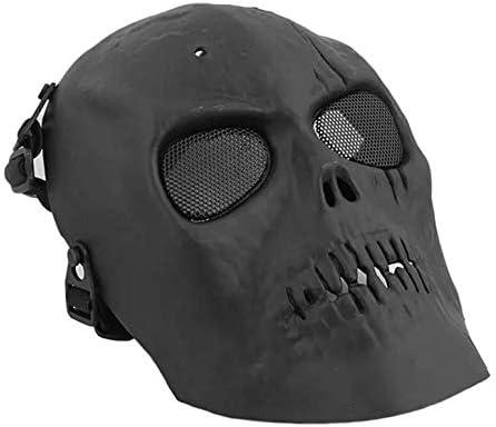 ArgoBar Máscara de Esqueleto de Calavera para Aire Libre, para Airsoft, Paintball, Pistola, protección Completa, Cascos con Escudo para los Ojos