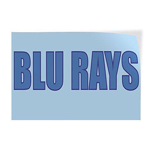 Blu Rays Indoor Store Sign Vinyl Decal Sticker - 19.5inx48in,