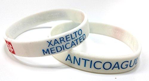 2X Xarelto Medicated Wristband Medical Awareness Alert Bracelet