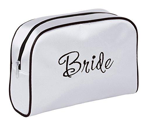 (Lillian Rose White Bride Travel Accessory Makeup Bag)