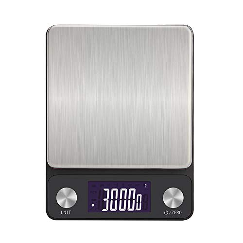 NEXT-SHINE Recahrgeable Kitchen Scale 5kg x 0.1g/0.01oz, USB Mutlfunction Digital Food Scale with LCD Back-lit Display and Large Protective Tray for Food Baking