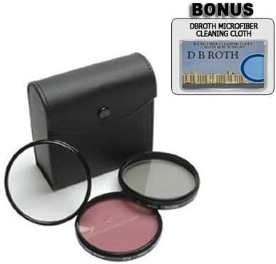 High Resolution 3-piece Filter Set For The JVC GC-PX100 Digital Camcorder UV, Fluorescent, Polarizer