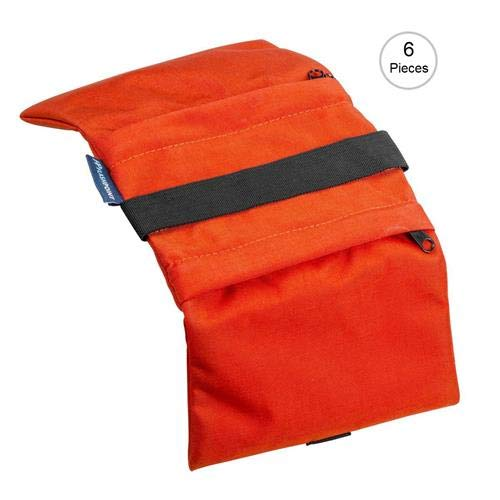 Flashpoint Empty Saddle Sandbag, Water-Resistant Cordura Nylon - (15 lb Capacity, Orange) (6 Pack) by Flashpoint (Image #1)
