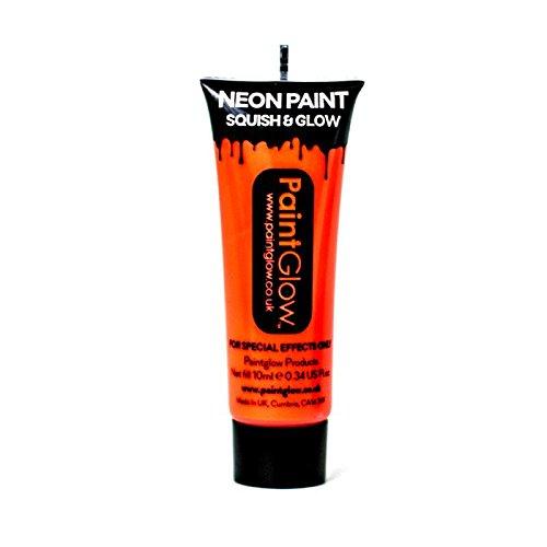 Paint Glow - UV Neon pintura para cara y cuerpo, 10 ml, color naranja (45989) AA1A05