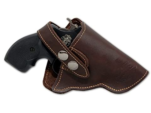 New Barsony Brown Leather OW Holster for Snub Nose 2