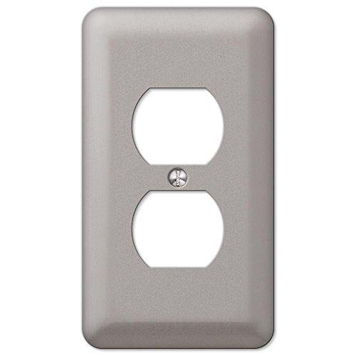 Pewter Duplex Outlet (Declan 1-Duplex Outlet Plate, Pewter)