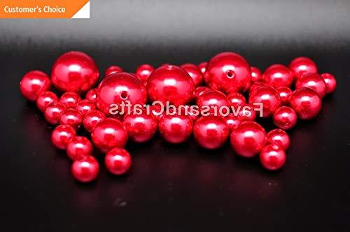 (Hebel 76 Pearl Vase Fillers Balls Clear Pink Gems Gold Decorative Wedding Table Decor   Model DCRTVBLL - 25  )