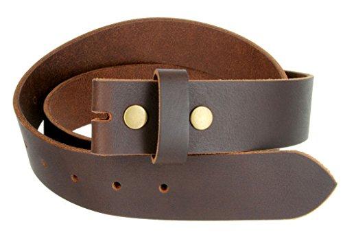 """100% Solid Cowhide Leather Black Leather Belt Snap on Belt Strap 1.5"""" Wide"""