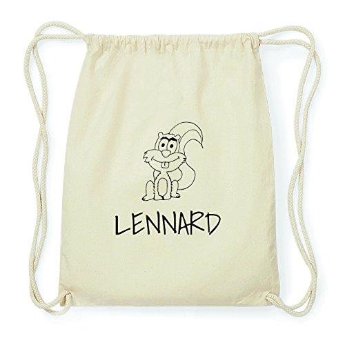 JOllipets LENNARD Hipster Turnbeutel Tasche Rucksack aus Baumwolle Design: Eichhörnchen