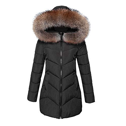 Grueso Cálido Cardigan Con De Imitación Piel Algodón Abrigo Mujer Sw7dqYY