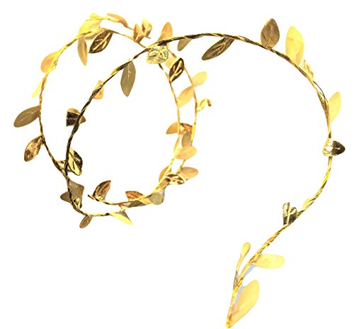 Small Gold Leaves Wire Garland, 6 ft, Accent, Embellishment, Table top, Vase, Elegant Blooms & Things (Accents Wire Gold)