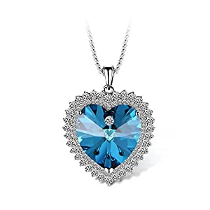 T400 Jewelers Joy of Love Heart Shape Pendant Necklace Made with Crystal