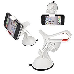 Annong Car Mount Universal Vehicle Swivel Holder For For Cell Phone/ Samsung Galaxy Note (White)