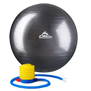 2000lbs Anti Burst Exercise Stability Ball with Pump from Black Mountain Products