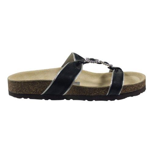 Ornela Brenti 33260-501 Damen Schuhe Premium Qualität Pantolette Schwarz (Schwarz)