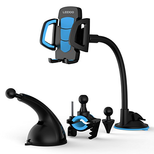 LEEIOO Car Phone Mount 4-in-1 Air Vent Cell Phone Holder Cra