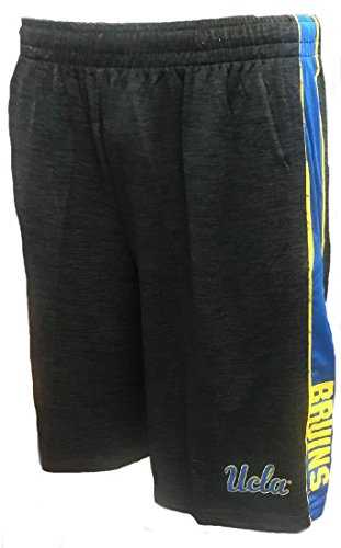 ULCA Bruins Mens Black Wicket Synthetic College Shorts (Large) (Bruins Drawstring Ucla Ncaa)