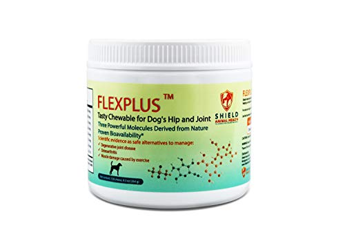 (FLEXPLUS for Dog's Hip & Joint. Relieve Pain and Inflammation from Arthritis, Joint Disease, and Muscle Damage. Pharmaceutical Grade.Clinically Proven Absorption.120 Chews. Chicken Flavor. Made in USA)