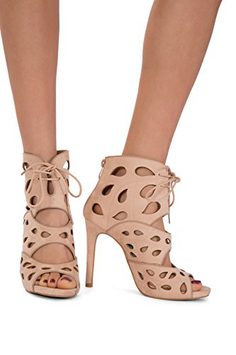 Lusty Chic - Zapatos con tacón mujer Beige - beige