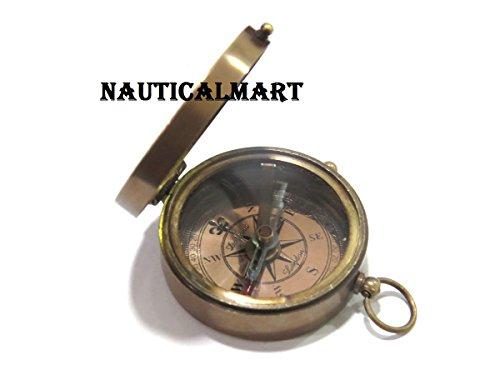 NAUTICALMART Thoreau 's Go Confidently Engraved詩真鍮コンパス