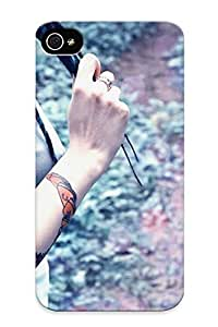 Case For Iphone 4/4s Tpu Phone Case Cover(tattoo) For Thanksgiving Day's Gift Kimberly Kurzendoerfer