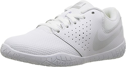 76a80634b4cb6 Nike Girl's Youth Cheer Sideline IV Cheerleading Shoes (1 M US Little Kid,  White/Pure Platinum/White)
