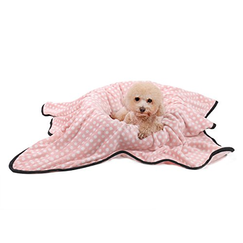 Speedy Pet Dog Cat Velvet Blanket Puppy Cushion Soft Warm Sleep Mat Blankets for All Kinds of Small Medium Large Animals Pink M by Speedy Pet