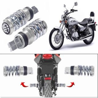 Delhitraderss Spring Coil Style Bike Foot Pegs Foot Rest Set