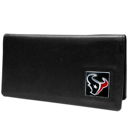 NFL Houston Texans Leather Checkbook Cover