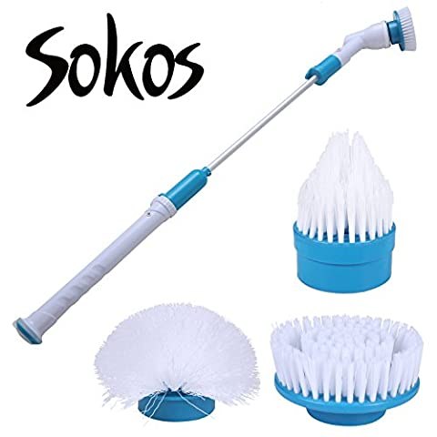 Spin Scrubber, Turbo Scrub Rechargeable Scrubber Cleaning Brush 360 Cordless Cleaning Tool for Bathroom, Floor, (Scrubs Season Four)
