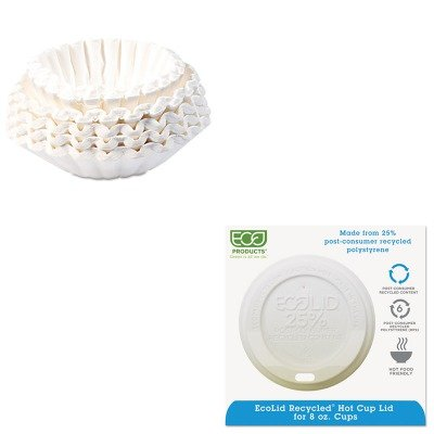 KITBUN1M5002ECOEPHL8WR - Value Kit - ECO-PRODUCTS,INC. Eco-Lid 25% Recycled Content Hot Cup Lid (ECOEPHL8WR) and Bunn Coffee Commercial Coffee Filters (BUN1M5002)