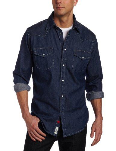 Mountain Khakis Men's Original Mountain Denim Shirt (Dark Indigo, Large) ()