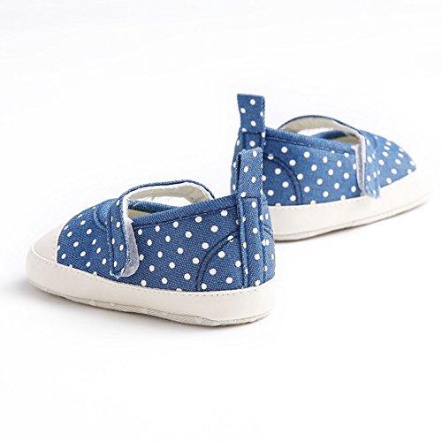 etrack-online Infant Toddler bebé niña Princesss lunares lienzo zapatos de suela suave as the picture shows Talla:12-18months as the picture shows