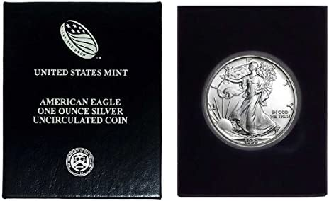American Silver Eagle in Plastic Air Tite with our Certificate of Authenticity Dollar Uncirculated Us Mint 2019