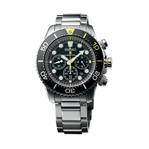 SEIKO Prospex Sea Diver's 200m Chronograph Solar Sports Watch Silver SSC613P1 ()
