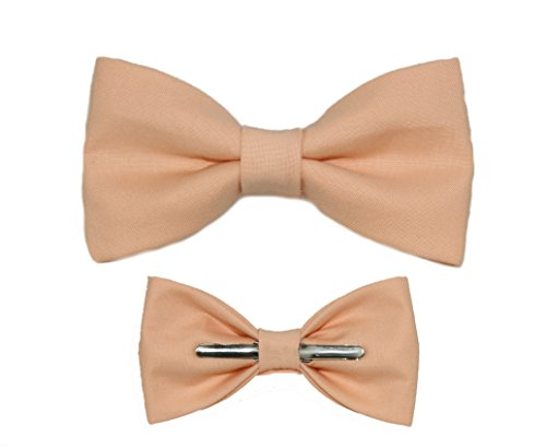 Toddler Boy 3T 4T Ice Peach Clip On Cotton Bow Tie - Peach Toddler Bow Tie