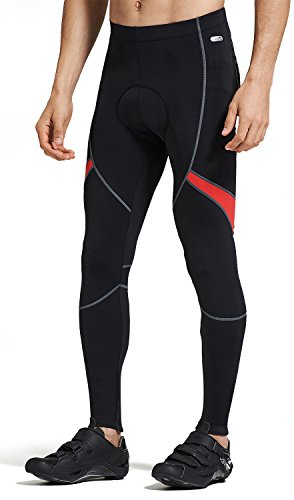 SANTIC Men's Bike Bicycle Pants Padded Cycling Compression Tights
