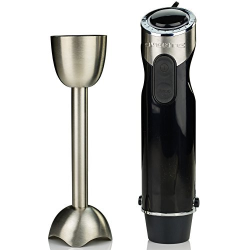 Ovente Multi-Purpose Immersion Hand Blender, Brushed Stainless Steel, Variable 6-Speed Control, 500-Watts, Black (HS690B) by Ovente (Image #4)
