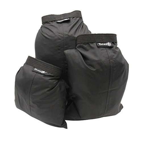 Roll Bag Set (Black - Set of 3 Sizes Roll Top Waterproof Dry bag Kit Storage Compression Bag Sack Poch Packing Organizers Water Resistant Camping Travel)
