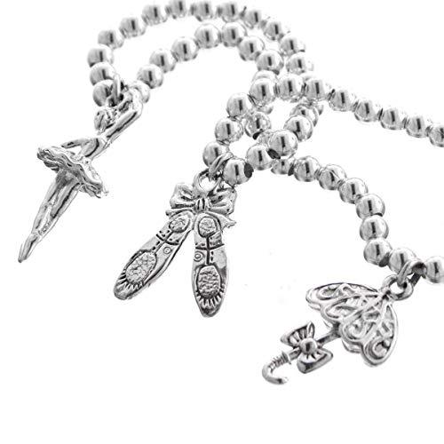 (Ballet Dance Ballerina Beaded 925 Sterling Silver Charm Bracelet YE-1616)