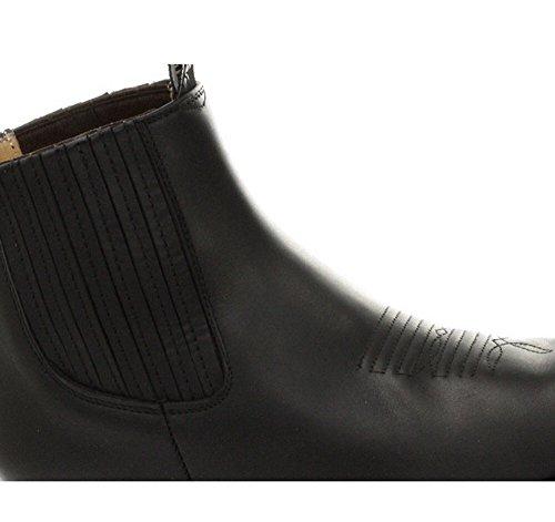 Grinders Unisex Maverick-Schwarz-echtes Leder-Knšchel-Western-Cowboy-Stiefel