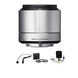"Sigma 60mm f/2.8 DN ART Lens for Sony E-mount Nex Cameras, Silver, ""Bundle"""