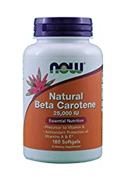 Now Foods Beta Carotene (Natural) - 180 Softgels