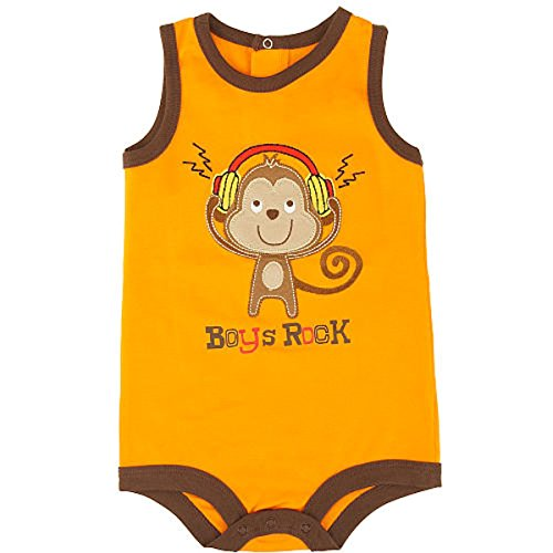 Koala Baby Embroidered Monkey Boys ROCK Bodysuit Outfit (Baby Koala Outfit)