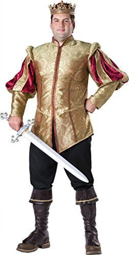 InCharacter Costumes Men's Plus-Size Renaissance Prince Costume, Gold/Burgundy, XXX-Large