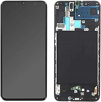 SPES Super Amoled Pantalla táctil en negro para Samsung Galaxy A70 ...
