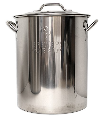 Brewer's Best  Beer Brewing Boiling Pot Stainless Steel with Lid (16 gal) by Brewer's Best (Image #1)